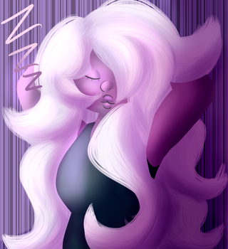 Sleepy Amethyst by Biology-Textbook