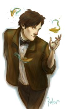 11th Doctor doodle by rotten-vermillion