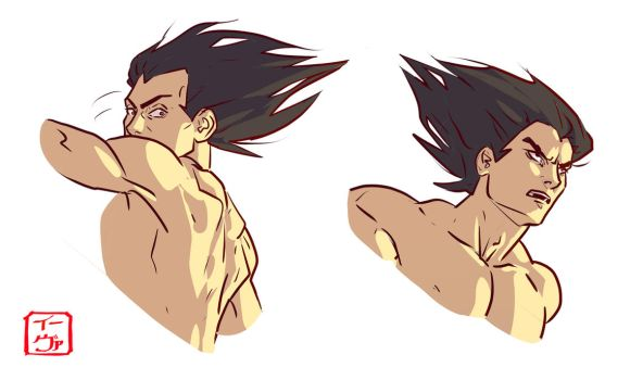 Vegeta headshots by invisibleninja12
