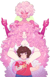 rose gems [ steven universe print ] by dongoverlord
