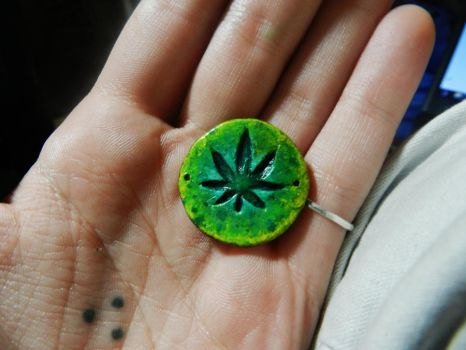 Pot Leaf Pendant by PoisonJARCreations