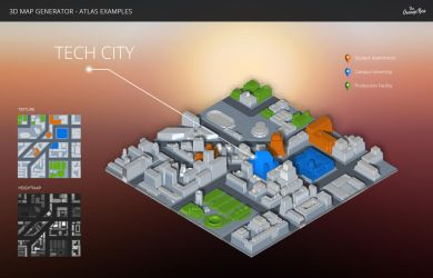 City - 3D Map Generator - Atlas - Photoshop Plugin by templay-team