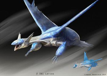 Pokemon: Latios by LindseyWArt