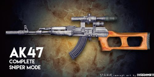 AK47 Sniper concept art by IvaanMR11 by IvaanMR11