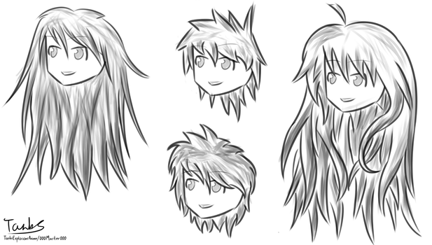 Anime hairstyles by 000master000