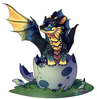Baby dragon/ Adoptable  Extra by Belliko-art