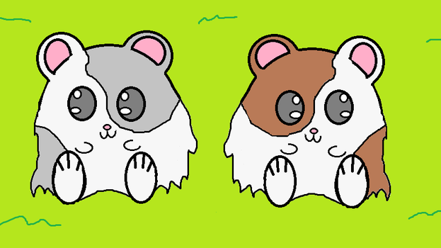 Hamsters quick doddle color no shading. by mach03trek