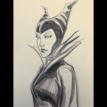 Maleficent.  by AIart