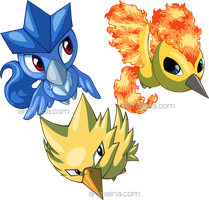 Pokemon Ranch Legendary Birds