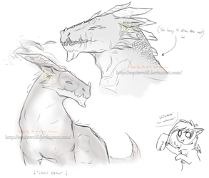 two random hunters and me selling watermarks for f by ScarisWolf