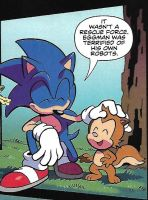 Ricky Squirrel in IDW Sonic #5 by dth1971