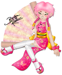 Harajuku Aelita :COLOURED: by BelievingIsSeeing