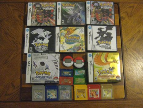 my Pokemon games by Staceyk93