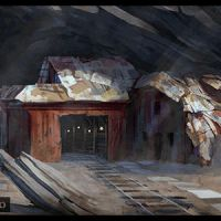 Desert Mine Painting steps by logartis