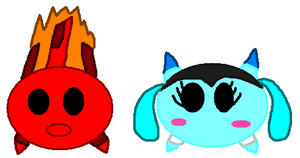 Mixels: Tsum Tsumified Flain and Aquana by Luqmandeviantart2000