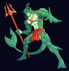 COMMISSION: Fishman by Cubesona