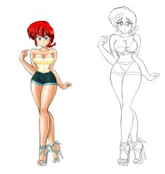 Ranma-chan: remember this dress? by link12911291
