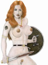 13 Amazons-Portrait of Queen Penthesilea-Redhead by chewjfsh