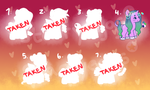 2 LEFT! EACH 50 POINTS/CENTS by starryeggs