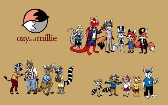 Ozy and Millie Cast by dvdsnsam