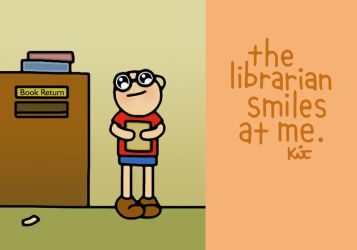librarian smiles. by kitskids
