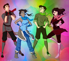 Scarves for Team Avatar Initiative by blindbandit5