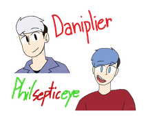 Daniplier and PhilSepticEye | Youtubers by Puppyrelp