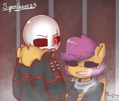 underfell Scooter x sans by synnibear03