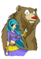 girl bear colorize by hbn85