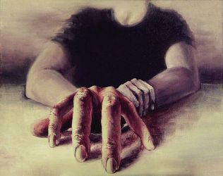 Spiderhand -after Olympie- by AccidentalMasochism