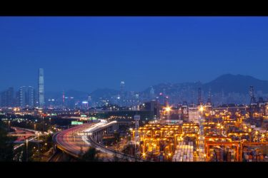 Busyness at Night in City by johnchan