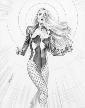 Black Canary Study by mikemayhew