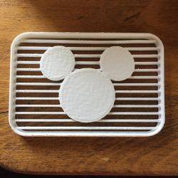Disney Channel 1983 logo cookie cutter (no handle) by DecaTilde