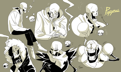 UT UF US SF Papyrus by tabe103