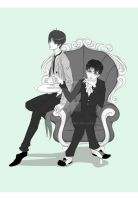 lord Rivai and butler Eren by Kryhelis