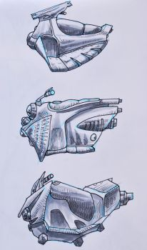 Concept for BM - goofy speeder designs by jiggajlalopez