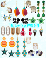 Earrings PNG Set_1 by JEricaM