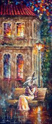 Lone Rabbit by Leonid Afremov by Leonidafremov