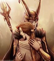 Frigga and Loki by Kibbitzer