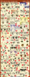 Manga Eyes, 100 Ways by markcrilley