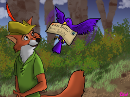 Robin Hood recieves fan mail.. by VulpesErin