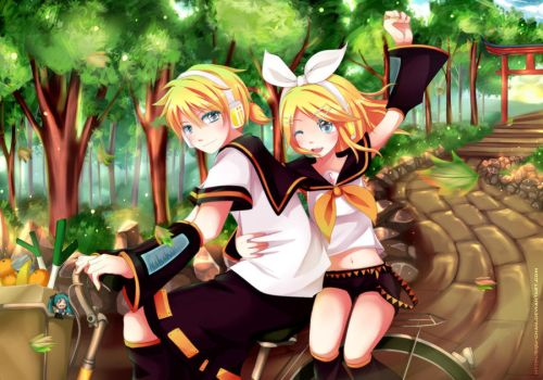 Rin and Len: Lets go by SquChan
