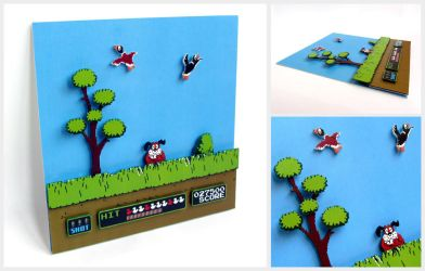 NES Duck Hunt Diorama by m1sterjax
