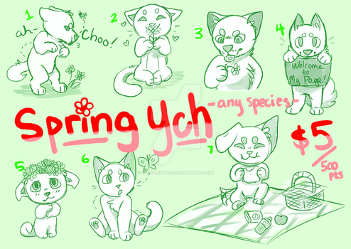 Spring YCH! $5/500pts -OPEN- by doodlepawss