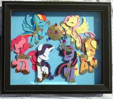 [SOLD] Elements of Harmony Shadowbox 16x20 in. by The-Paper-Pony