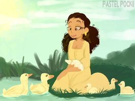 Peggy with ducks by stariitea