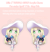 Lillie PREORDER 2 inch double-sided acrylic charm by AWWorkshop