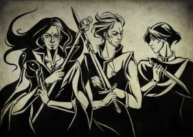 The Dark Trio by Aniril-Amakiir