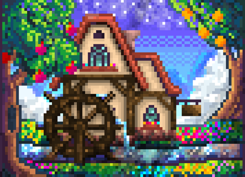 4th Pixel Art - First House :3 by TrepkSoto