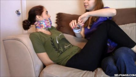Girl Tape Gagged Tight by Selfgags